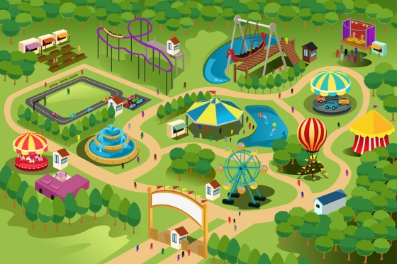 Amusement park map